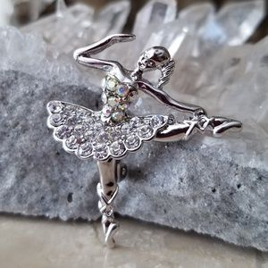 Jewelry - Ballerina Rhinestones Brooch